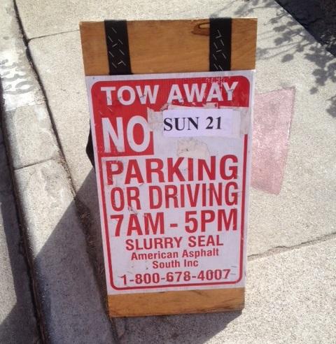No Parking Sept 21st