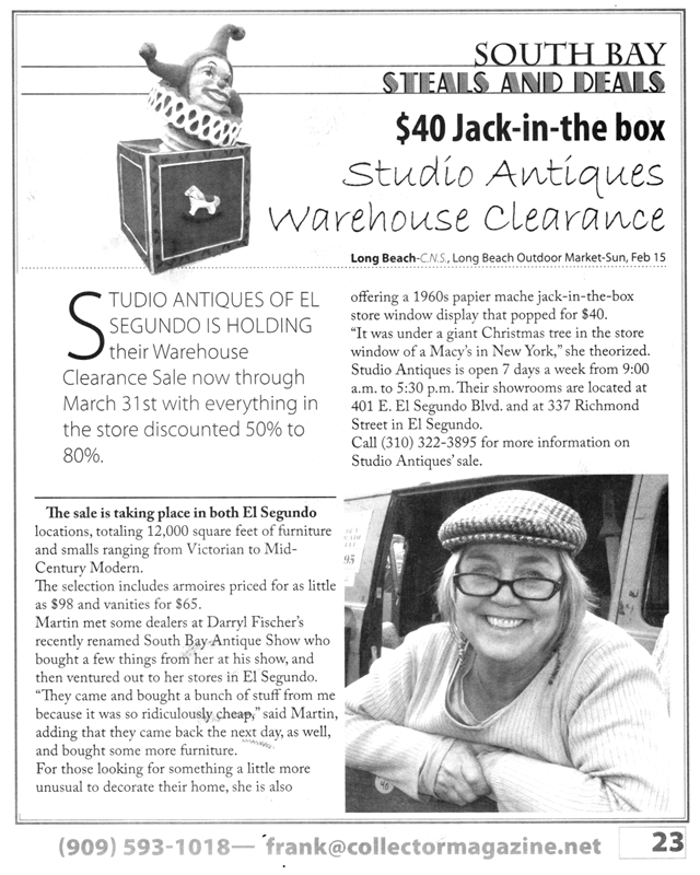 March 2009 – Collector Article