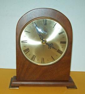 MID Century MODERN Desk TABLE Mantel CLOCK Retro ROMAN